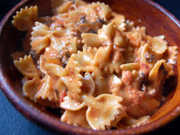 bowties sausage tomatoes and cream sauce